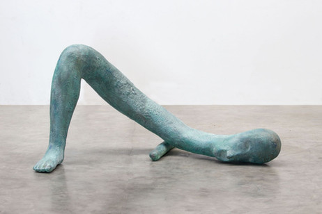 HENK VISCH The right foot of a man of words, 2016 bronze, 72 x 145 x 80 cm, edition of 2 and 1 A.P.