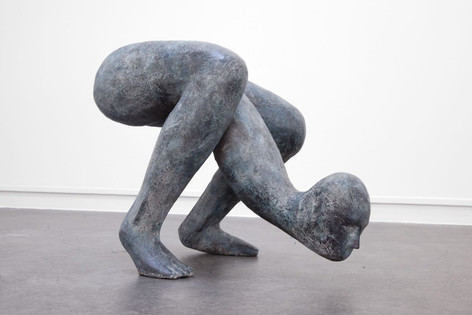 HENK VISCH Two poets, 2016 bronze h: 60 edition of 2 and 1 A.P.