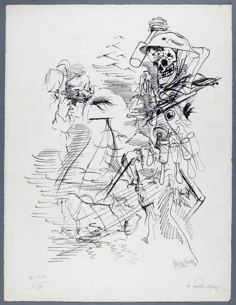 GEORGE GROSZ, Free World and the GULAG, ca. 1950