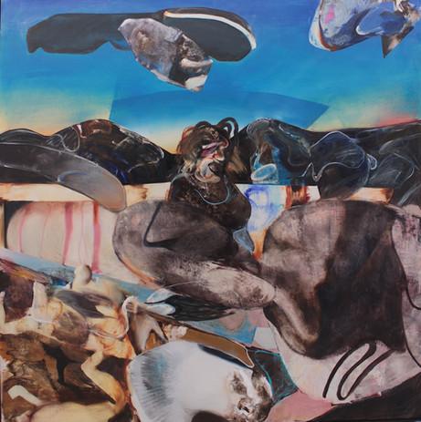 ADRIAN GHENIE Medusa, 2020 oil on canvas 230 x 230 cm