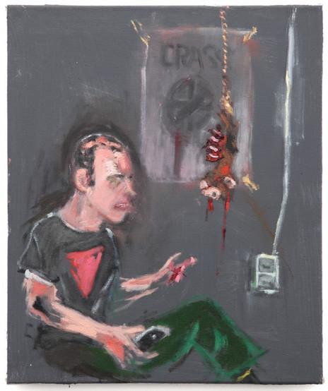 AARON VAN ERP, E. Zandman legt de anarchopunk uit aan een dode aap, 2014
