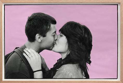 ED TEMPLETON Kissing Kids, Los Angeles, 2013 60.5 x 89 cm unique photograph, paint