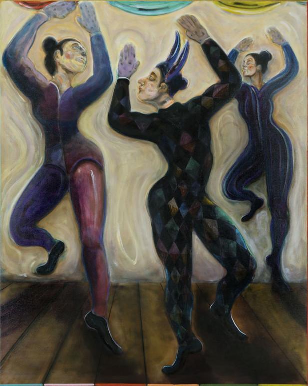 RYAN MOSLEY The Dance of Spring, 2020 oil on linen 153 x 123 cm