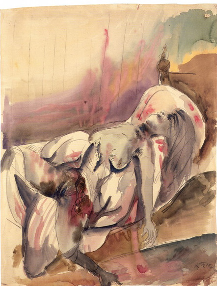 OTTO DIX, Lustmord I, Versuch, 1922