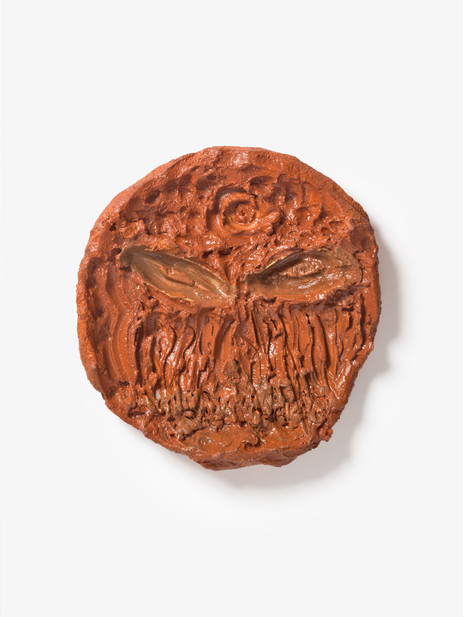 JONATHAN MEESE DIE SCHOKOLADENMÜNZE DER FUGGER!, 2020 glazed ceramic 42 x 39 x 6,5 cm