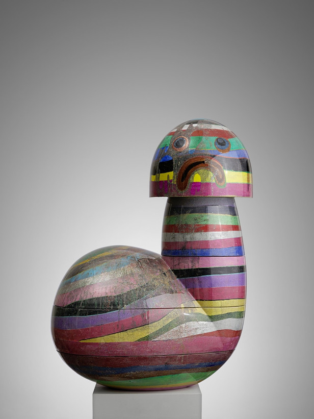TAL R Clown, 2009 acrylic, glitter, varnish on wood 110 x 80 x 60 cm