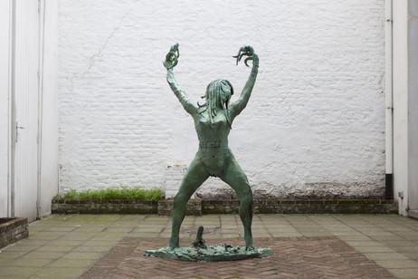 """JONATHAN MEESE AMAZONENFRÄULEIN """"SPUCKESPUCKESPUCKE"""" IM SPEICHELRAUM """"MATSCHMATSCH"""" (BABEBABY MIT TANZHÖLZCHEN), 2011 bronze 182 x 106 x 62 cm edition of 3 and 1 A.P."""