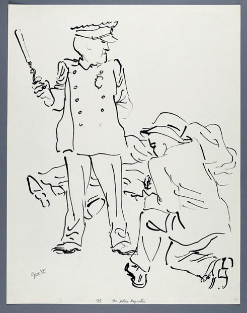 GEORGE GROSZ, The Police Reporter, 1937