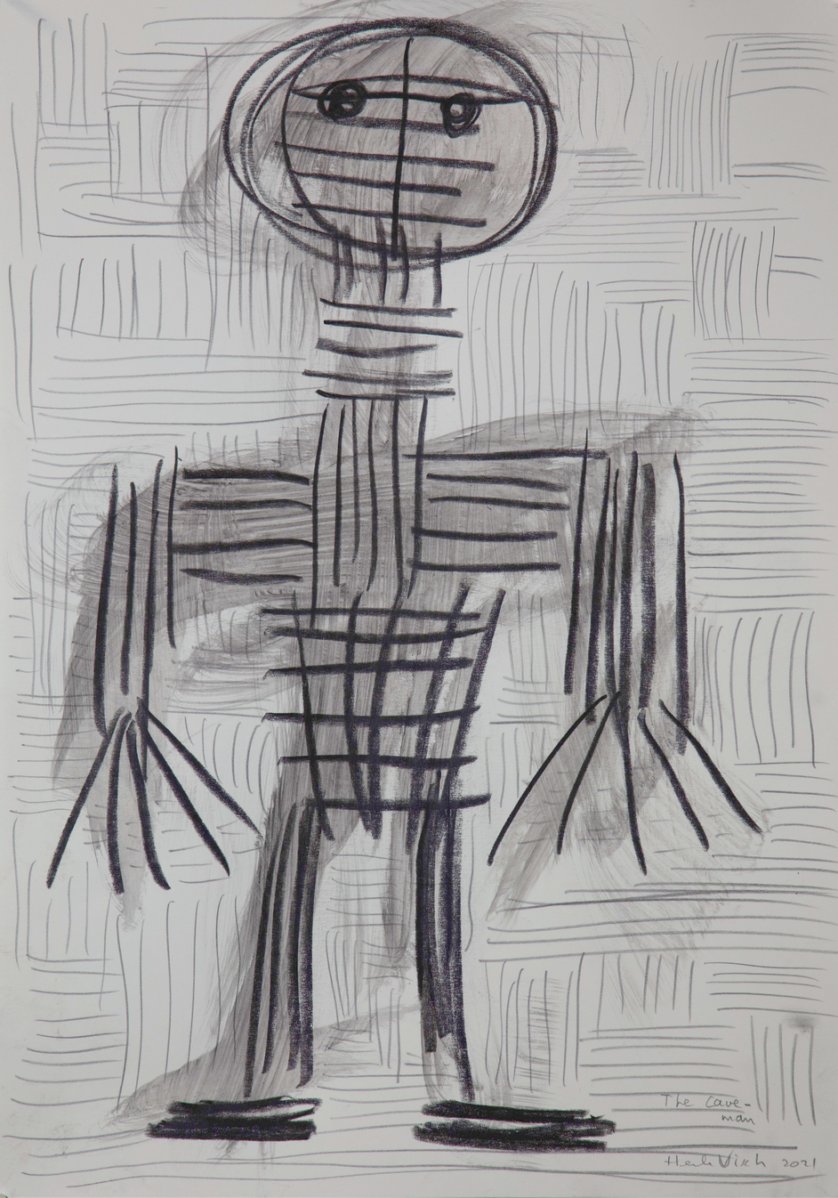 HENK VISCH The cave man, 2021 water color, ink and pencil on paper 42 x 29,7 cm