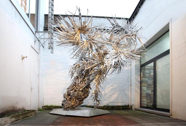 PETER ROGIERS, Silver Cakespoons, 2012 aluminium, stainless steel 430 x 425 x 380 cm