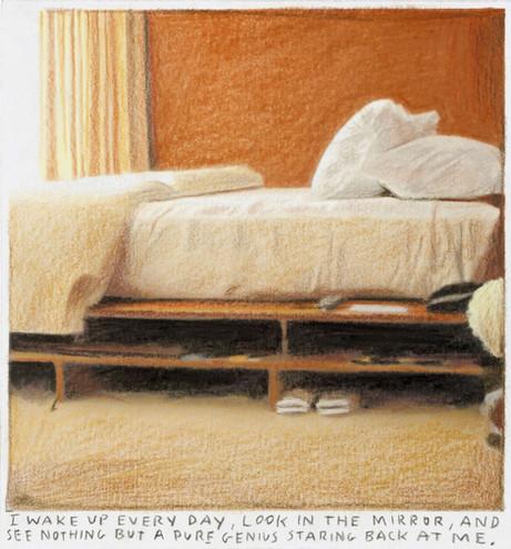 RINUS VAN DE VELDE I wake up every day, ..., 2019 pencil on paper 13,5 x 12,7 cm