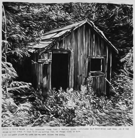 RINUS VAN DE VELDE, Lately, I often dream of this shacklike studio, 2011