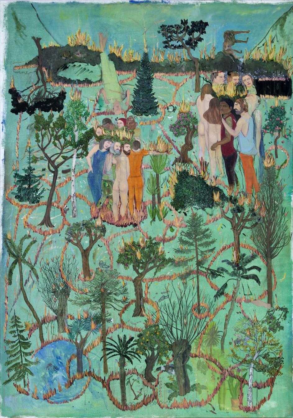 BRAM DEMUNTER Botanical garden, 2018 oil on canvas 180 x 126 cm