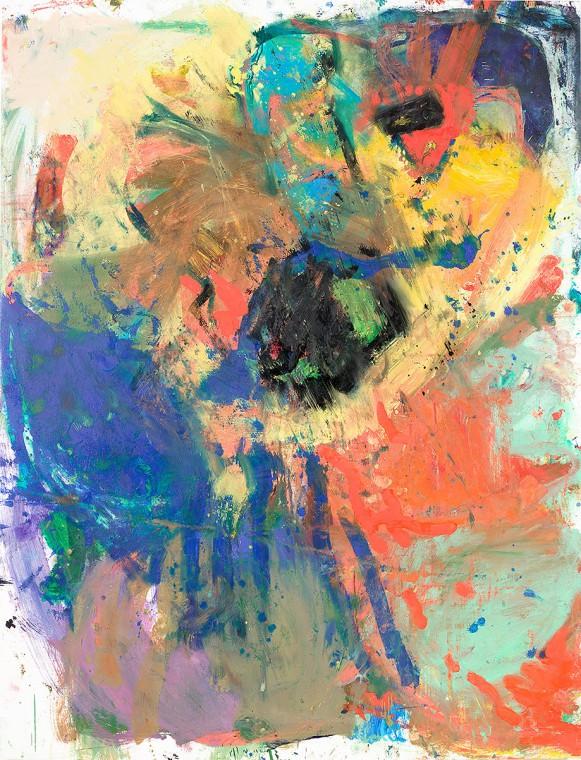 ANKE WEYER Jubilar, 2016 203 x 158,8 cm oil and acrylic on canvas