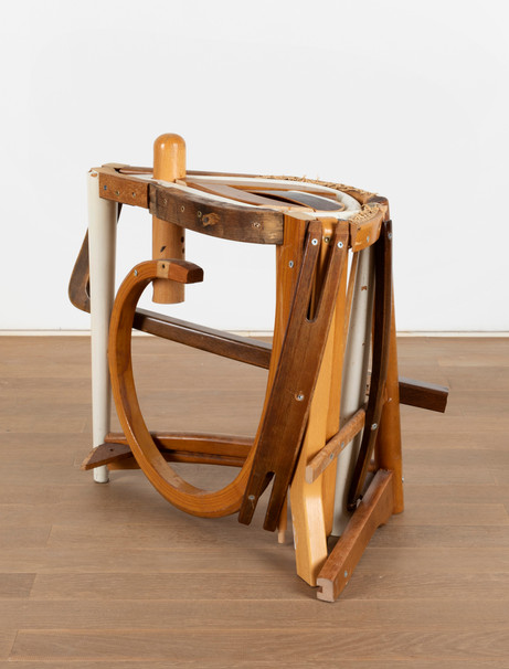 GELATIN Bianca, 2011 wood, used furniture parts, metal 50 x 55 x 35 cm