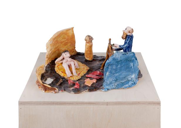 RINUS VAN DE VELDE  I am a traditional painter, 2018 glazed ceramic 16 x 34 x 27 cm