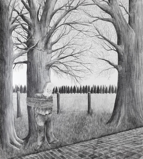 DENNIS TYFUS On The Road Again, 2021 pencil, and graphite on paper 270 x 240 cm