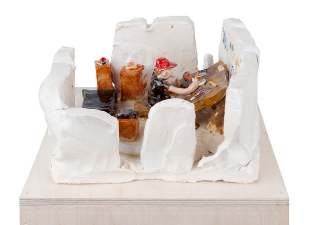 RINUS VAN DE VELDE I like it here, 2019 glazed ceramic 14 x 28 x 30 cm