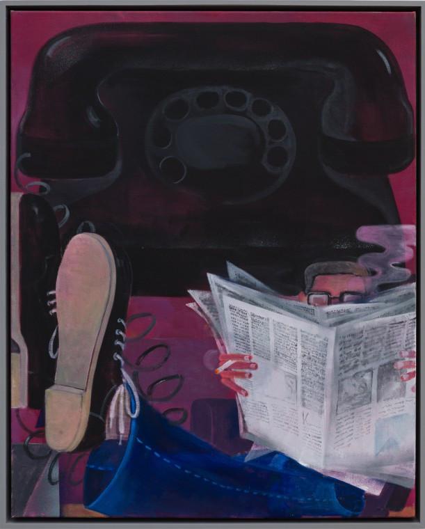 TOMASZ KOWALSKI Telephone II, 2014 acrylic on canvas 100 x 80 cm