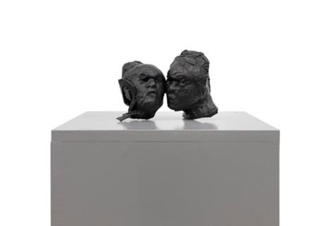 PETER ROGIERS Fundaments, 2020 bronze, mdf plinth 150 x 35 x 35 cm