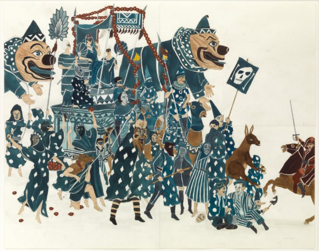 MARCEL DZAMA, The carnaval blues, 2014