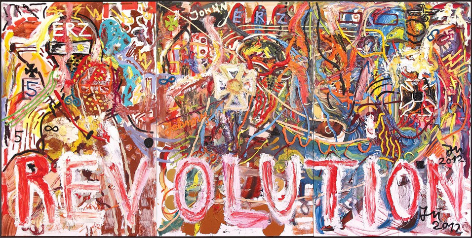 "JONATHAN MEESE, ""DR. MAXIMALUS KUNSTUS FULLUS STAATSCHEF ""RICHARDUS WAGNERUS IM ERZALLTOTALKUNSTYRN"", 2012"