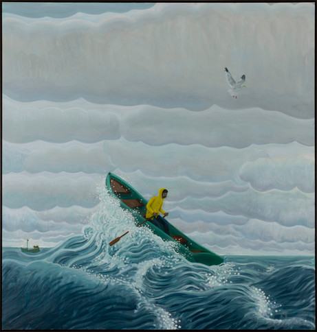BEN SLEDSENS Against the Waves, 2020-2021 oil and acrylic on canvas 200 x 190 cm