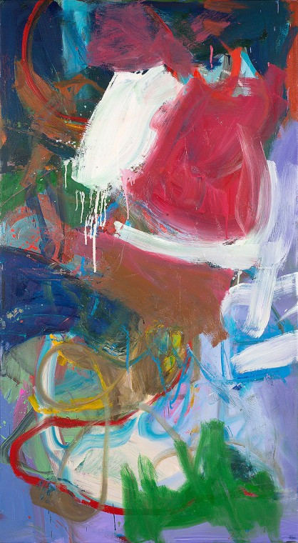 ANKE WEYER Sleep, 2013 198 x 107 cm oil and acrylic on canvas