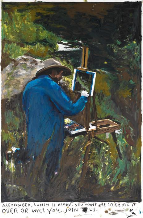 RINUS VAN DE VELDE Alexander..., 2019 oil pastel on paper 110,1 x 72,2 cm
