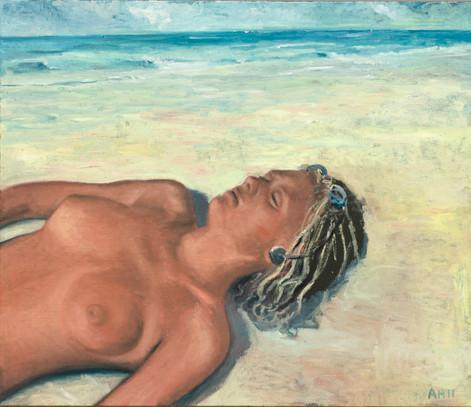 ANTON HENNING Pin-up No. 158, 2011 oil on canvas 120 x 140 cm