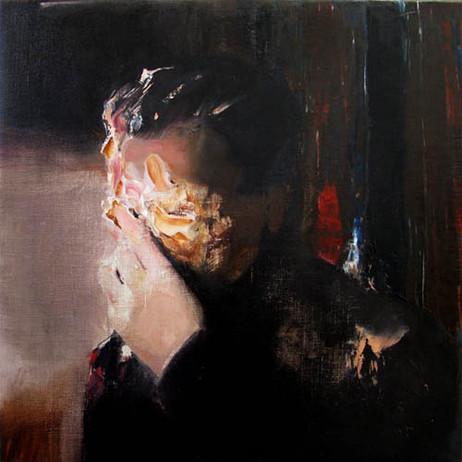 ADRIAN GHENIE Pie Fight Study 4, 2008 oil on canvas 52 x 52 cm