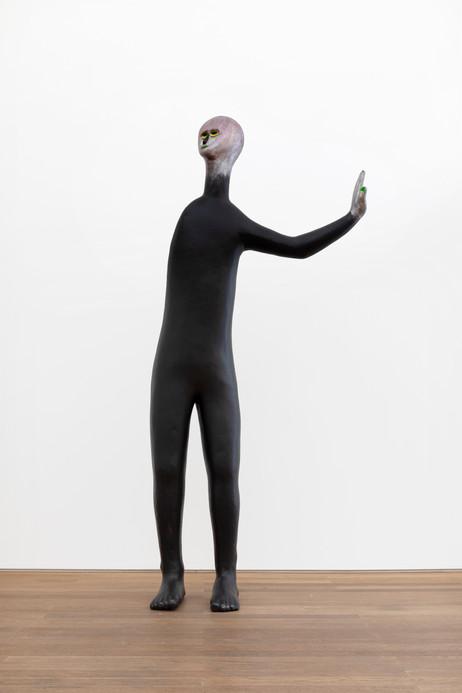 HENK VISCH The Doorman, 2021 aluminium, paint 207 x 94,5 x 37 cm