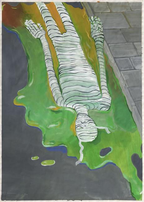 TOMASZ KOWALSKI Bez Tytulu, 2016 gouache on paper 86 x 61 cm