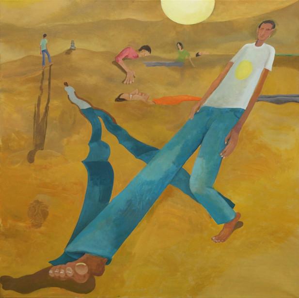 TOMASZ KOWALSKI Untitled (Shadow), 2015 acrylic on canvas 140 x 140 cm