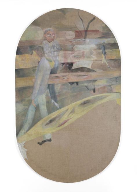 TOMASZ KOWALSKI The Walk, 2020 oil on canvas 201 x 121 cm
