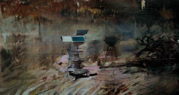 ADRIAN GHENIE The Blow, 2010 oil on canvas 35 x 65 cm
