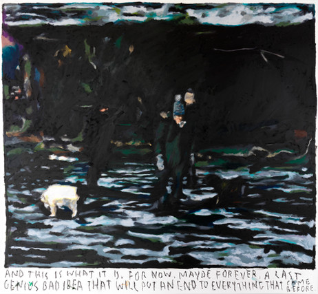 RINUS VAN DE VELDE And this is what it is..., 2021 oil pastel on paper 111,8 x 121,1 cm