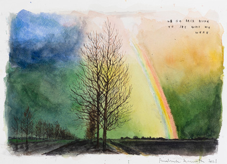 FRIEDRICH KUNATH We Go Back Home To See Who We Are, 2021 watercolor and archival ink on paper 26 x 36 cm