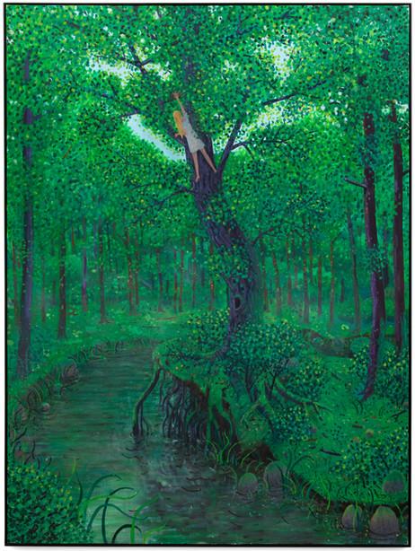 BEN SLEDSENS Egg Thief, 2020 acrylic and oil on canvas 270 x 200 cm