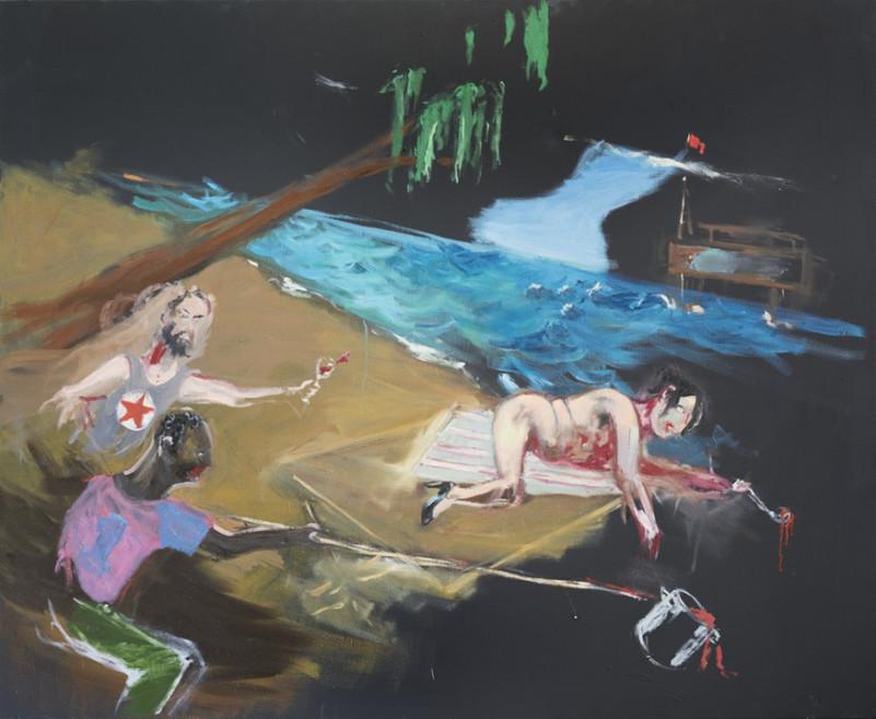 AARON VAN ERP, Salonsocialist Russell Brand en Vrijdag tegen Madame Kurtz en haar soepketel, 2015