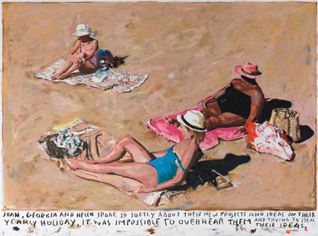 RINUS VAN DE VELDE Joan..., 2020 oil pastel on paper 70,9 x 88,3 cm