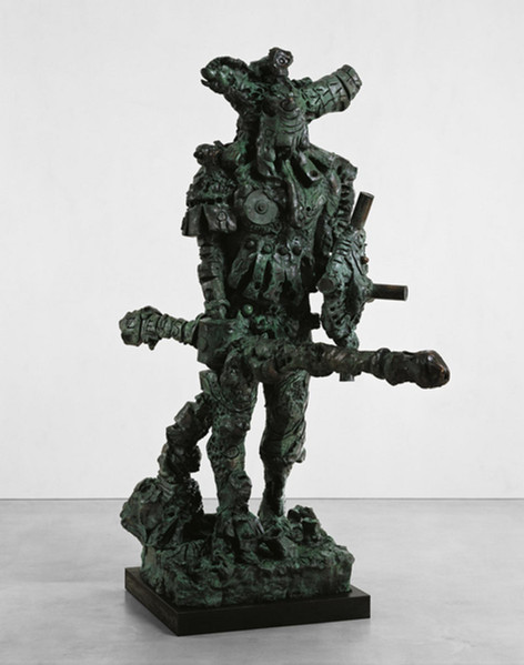 JONATHAN MEESE DER KÄMPFER de LARGE  (Der Zeushagen von Troja de NEUTRAL), 2008 bronze 266 x 130 x 210 cm edition of 3 and 1 A.P.