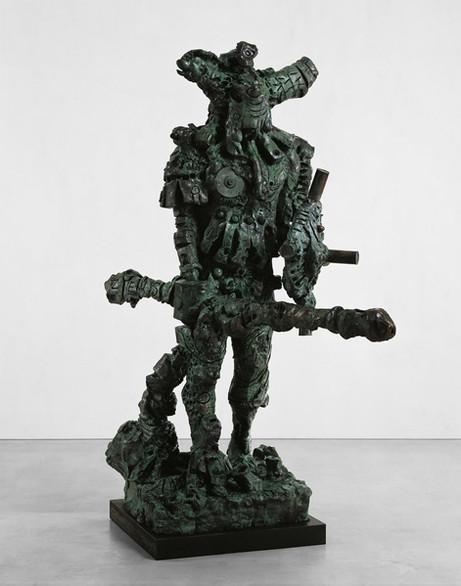 JONATHAN MEESE DER KÄMPFER de LARGE  (Der Zeushagen von Troja de NEUTRAL), 2008 bronze 266 x 130 x 210 cm edition of 3 and 1 A.P.