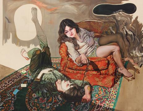 KATI HECK Classic I, 2014 oil on canvas 230 x 180 cm
