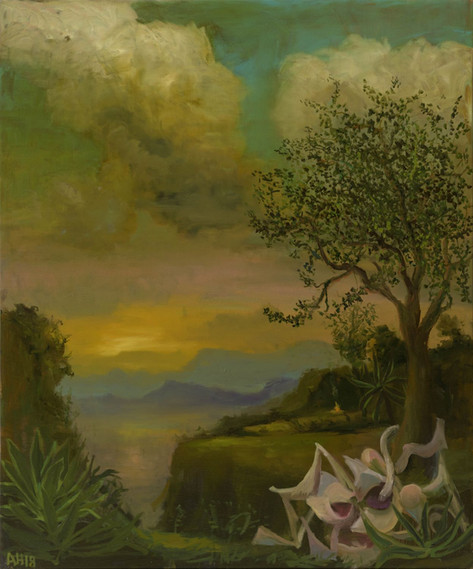 ANTON HENNING Pin-up No. 240, 201 oil on canvas 100 x 80 cm