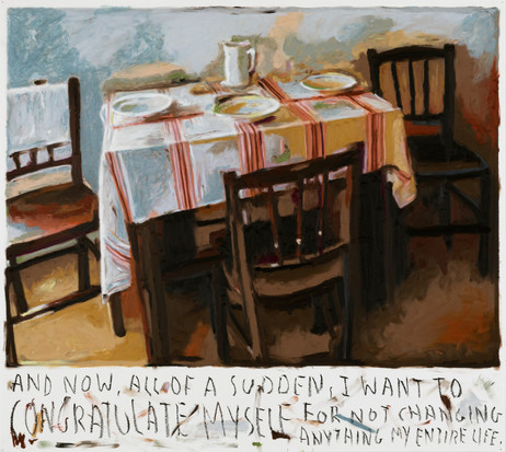 RINUS VAN DE VELDE And now, all of the sudden,..., 2020 oil pastel on paper 73,2 x 81,2 cm