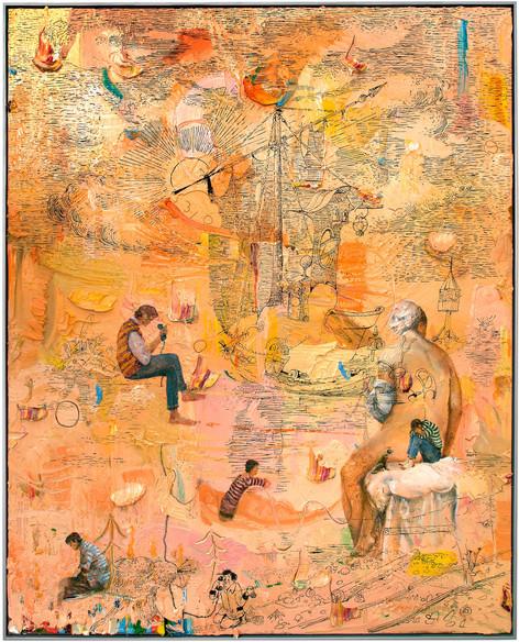 FRIEDRICH KUNATH We Sailed Out Far (Maybe a Little Bit Too Far), 2017 - 2018 oil on canvas, 152,8 x 122,9 cm