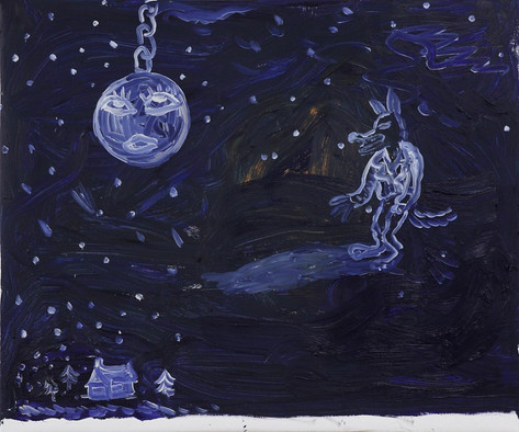 """ARMEN ELOYAN The Light called """"Day"""", and the Darkness called """"Night"""", 2011 oil on canvas 100.5 x 120.5 cm"""