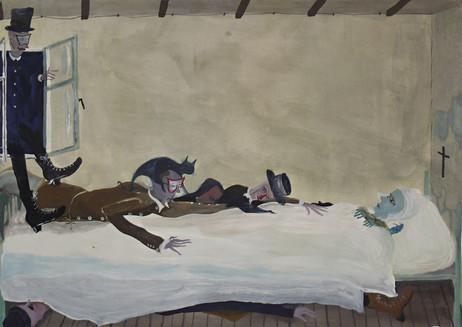 TOMASZ KOWALSKI Visitors, 2010 gouache on paper 43,5 x 61 cm