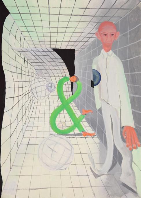 TOMASZ KOWALSKI, &, 2015 51.6 x 37 cm  gouache on paper